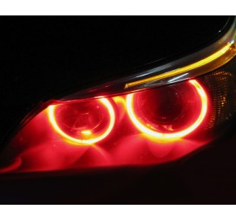 LED крушки за фабрични ангелски очи 6W за BMW E61 / БМВ Е61 (2003-2007) - червени