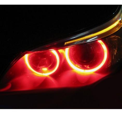 LED крушки за фабрични ангелски очи 6W за BMW X3 E83 / БМВ Е83 (2003-2009) - червени
