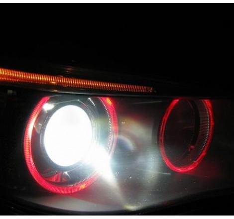 LED крушки за фабрични ангелски очи 6W за BMW X5 E53 / БМВ Е53 (1999-2006) - червени
