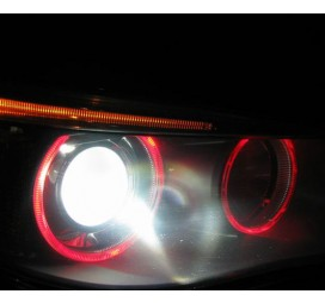 LED крушки за фабрични ангелски очи 6W за BMW E65 / БМВ Е65 (2001-2008) - червени