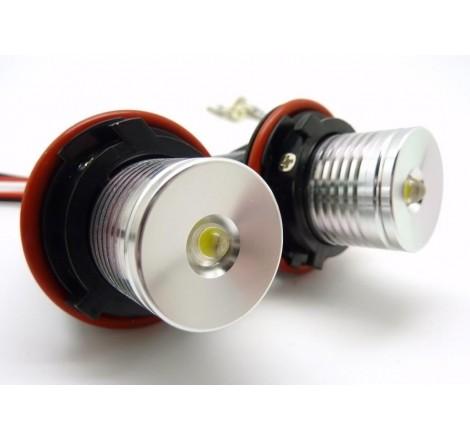 LED крушки за фабрични ангелски очи 6W за BMW E63 / БМВ Е63 (2003-2010) - сини
