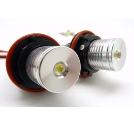 LED крушки за фабрични ангелски очи 6W за BMW E60 / БМВ Е60 (2003-2010) - сини