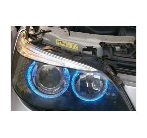 LED крушки за фабрични ангелски очи 6W за BMW E65 / БМВ Е65 (2001-2008) - сини