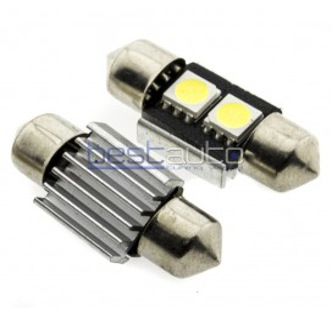 LED крушки Canbus C3W 31мм - 2 броя [C18]
