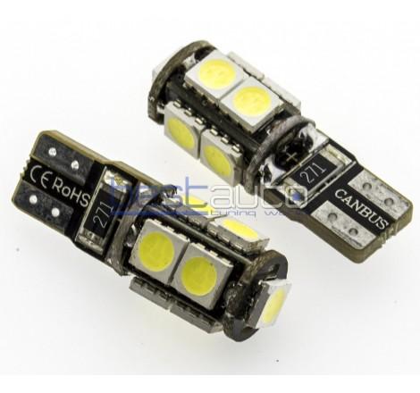 LED крушки Canbus за габарит / интериор T10 W5W - 2 броя [C14]