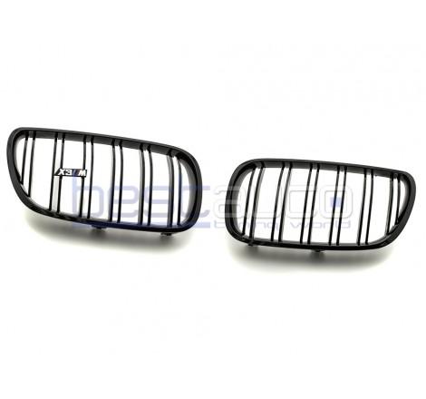 Бъбреци за БМВ Е83 / BMW X3 E83 Facelift (2007-2010) Черен Гланц Двойни