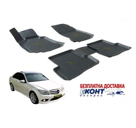 Гумени стелки тип леген 3D за Mercedes C-Class W204 (2007-2014) [G6030]