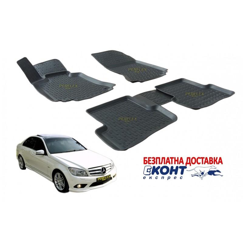 Гумени стелки тип леген 3D за Mercedes E-Class W204 [G6030]