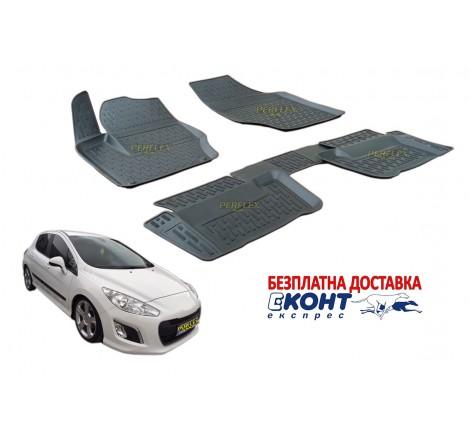 Гумени стелки тип леген 3D за Peugeot 308 (2008+) [G7021]