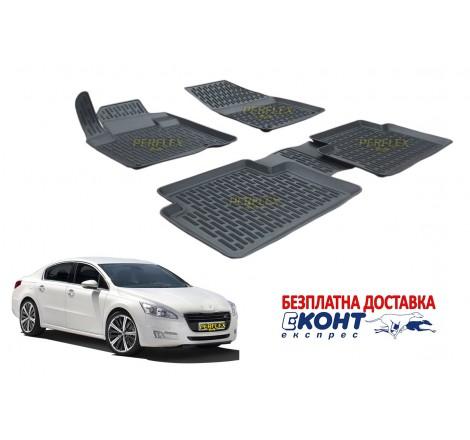 Гумени стелки тип леген 3D за Peugeot 508 (2011+) [G7022]