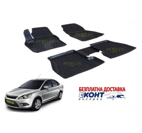 Гумени стелки тип леген 3D за Ford Focus 2 (2005-2011) [G4023]