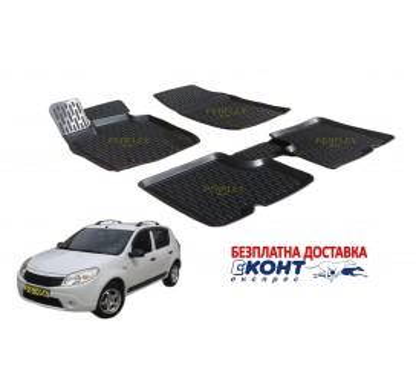 Гумени стелки тип леген 3D за Dacia Sandero (2008-2013) [G2807]