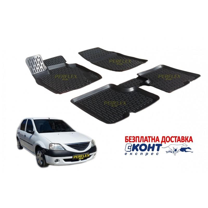 Гумени стелки тип леген 3D за Dacia Logan (2004+) [G2808]