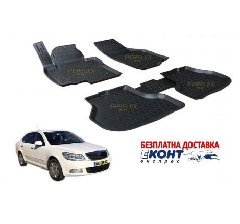 Гумени стелки тип леген 3D за Skoda Octavia (2008-2013) [G14013]