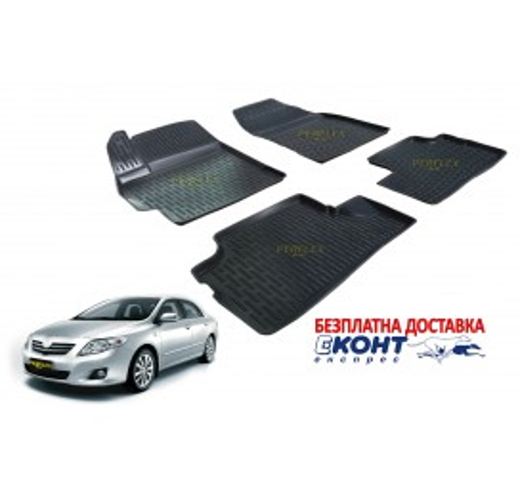 Гумени стелки тип леген 3D за Toyota Corolla (2007-2013) [G1111]