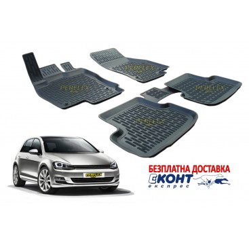 Гумени стелки тип леген 3D за VW Golf 7 (2013+) [G9021]