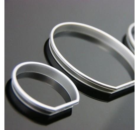 Рингове за табло за сиви / матови за BMW E39