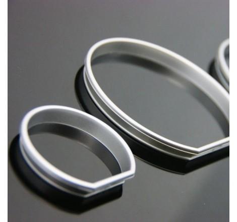 Рингове за табло за сиви / матови за BMW E38