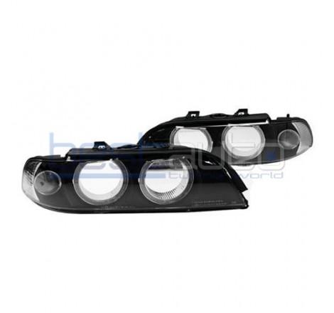 """Стъкла за фарове с """"Ангелски очи"""" за BMW E39 (1995-2000)"""
