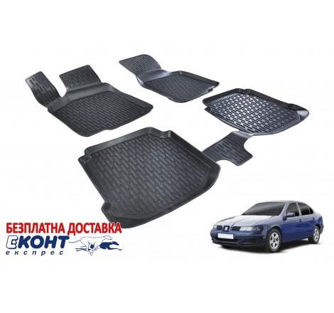 Гумени стелки тип леген 3D за Seat Toledo 2 (1999-2004) [G1616]