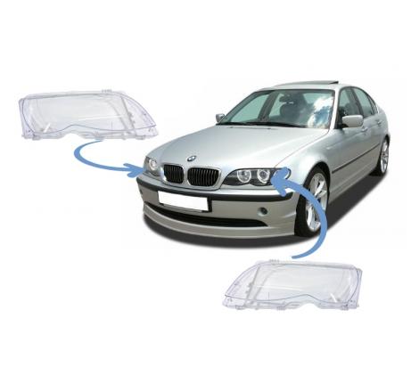 Стъкла за фарове за BMW E46 Седан / Комби Фейслифт (2001-2005)