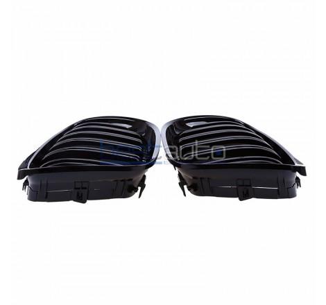 Бъбреци за BMW E90 / E91 Facelift (2008-2011) Черен Гланц Двойни