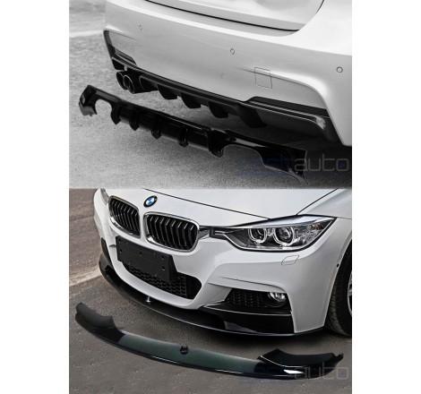 Предна и задна добавка черен гланц тип M Performance за BMW F30 / F31 (2011+)
