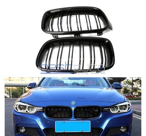 Бъбреци за BMW F30 (2011+) Черен Гланц Двойни