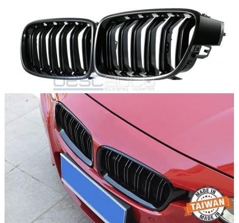 Бъбреци за BMW F30 / F31 (2011+) Черен Гланц Двойни