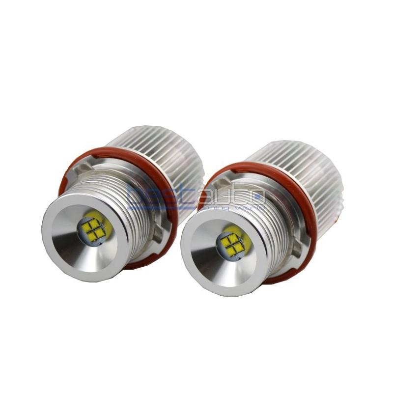 LED крушки за фабрични ангелски очи 25W за BMW E39 (2000-2003) - бели