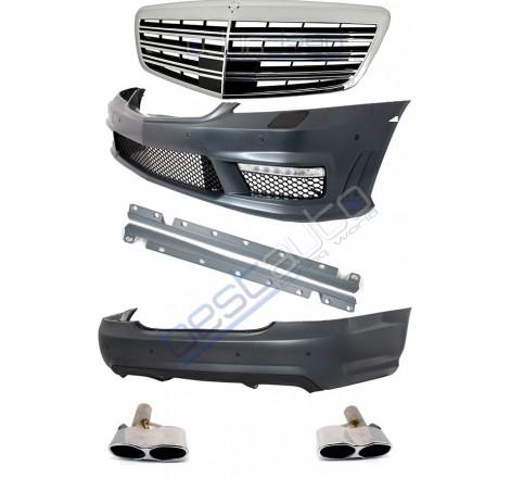 S65 AMG дизайн пакет с рeшетка и накрайници за Mercedes S класа W221 (2005-2012)