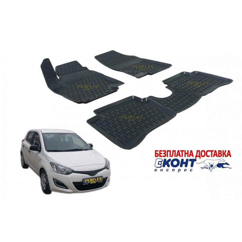 3D Автомобилни гумени стелки Perflex тип леген за Hyundai I20 (2009-2015)