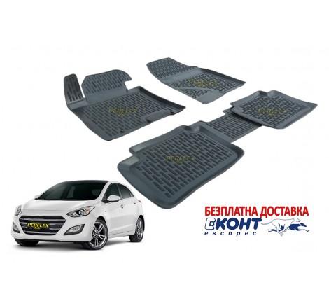 3D Автомобилни гумени стелки Perflex тип леген за Hyundai I30 (2012)