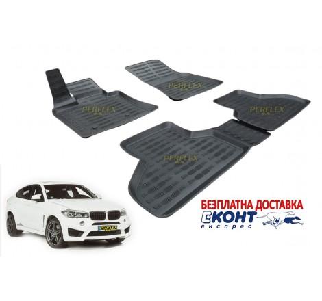 3D Автомобилни гумени стелки Perflex тип леген за BMW F16 X6 (2015+)