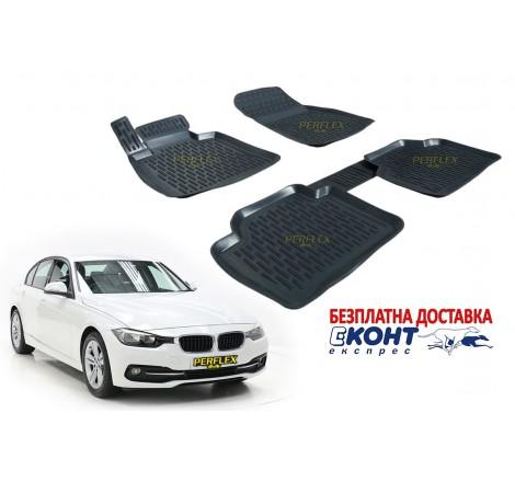3D Автомобилни гумени стелки Perflex тип леген за BMW F30 Серия 3 (2012+)