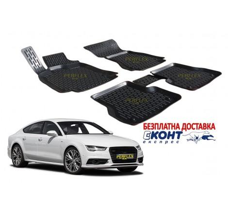 3D Автомобилни гумени стелки Perflex тип леген за Audi A7 4GA (2011+)
