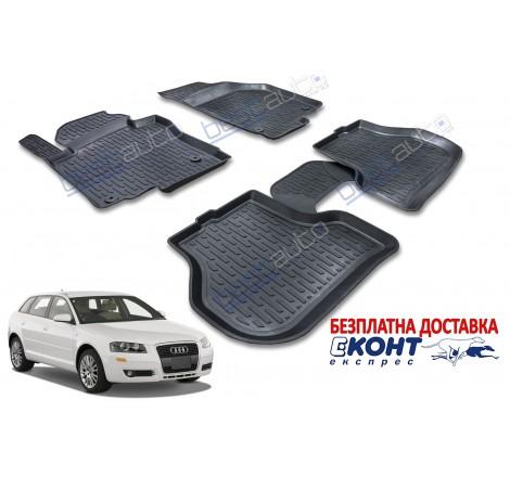 3D Автомобилни гумени стелки Perflex тип леген за Audi A3 8P (2003-2013)