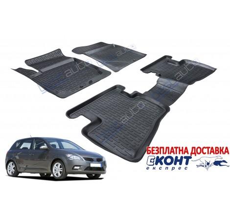 3D Автомобилни гумени стелки Perflex тип леген за Kia Ceed (2007-2012)