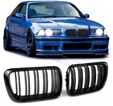 Бъбреци за BMW E36 (1996-1999) Черен Гланц Двойни