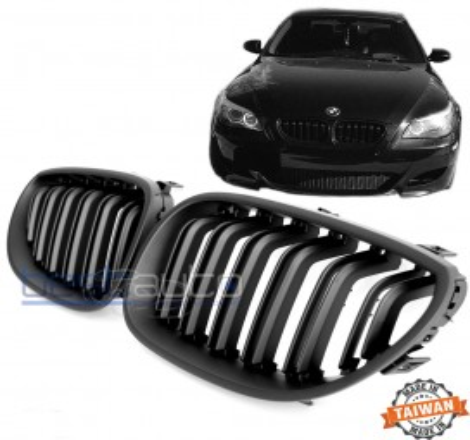 Бъбреци за BMW E60 (2004-2010) Черен Мат Двойни