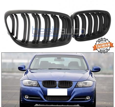 Бъбреци за BMW E90 (2008-2011) Черен Мат Двойни