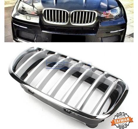 Бъбреци за BMW X5 E70 (07+) / X6 E71 (08+) Хром / Сиви