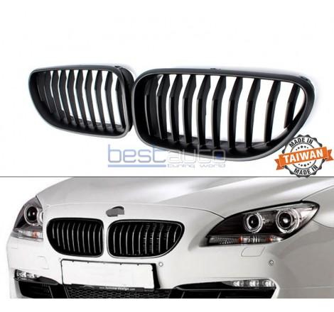 Бъбреци за BMW F06 / F12 / F13 (2011+) Черен Гланц