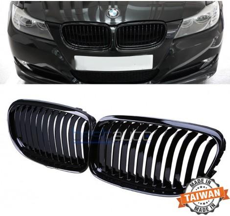 Бъбреци за BMW E90 / E91 (2008-2011) Черен Гланц