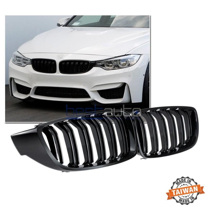 Бъбреци за BMW F32 / F33 / F36 (2013+) Черен Гланц Двойни