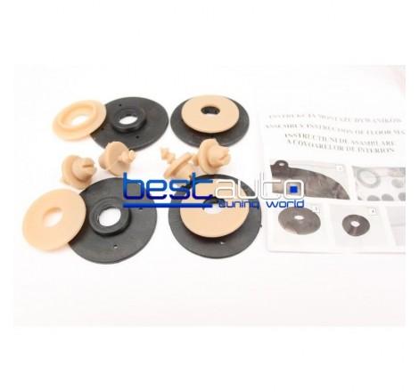 Автомобилни Гумени Стелки Rezaw Plast тип леген за BMW E39 5-Серия (1996-2003) Бежови