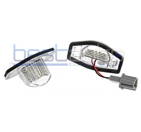 LED плафони за регистрационен номер за Honda CR-V (05+) / FR-V (2004-2009) / HR-V (1999-2006) / Jazz (2002-2014)