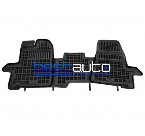Автомобилни Гумени Стелки Rezaw Plast тип леген за Ford Tourneo Custom (2013+) 3-местен
