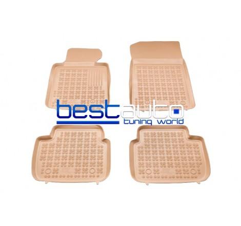 Автомобилни Гумени Стелки Rezaw Plast тип леген за BMW E90 3-серия (2012+) Бежови