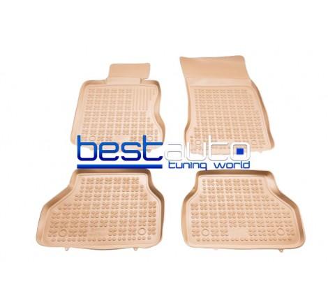 Автомобилни Гумени Стелки Rezaw Plast тип леген за BMW E60 5-Серия (2002-2009) Бежови